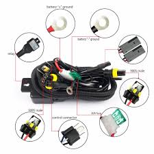 12v 35w hid bixenon h4 wiring harness controller for car auto 12v 35w hid bixenon h4 wiring harness controller for car auto headlight retrofit connector mini projector lens line car styling in wire from automobiles