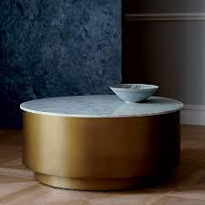 marble metal drum coffee table