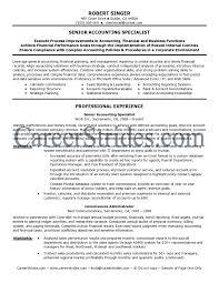 Staff Accountant Resume Samples Popular Senior Accountant Resume Examples Free Career Resume Template 22