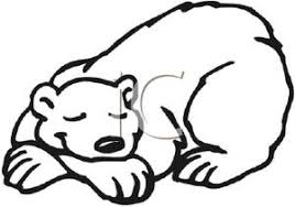 Small Picture Sleeping bear clipart outline collection