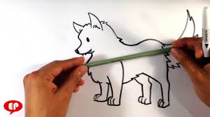 cute simple wolf drawing.  Wolf Intended Cute Simple Wolf Drawing A