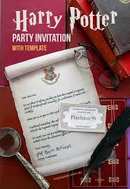 Harry Potter Newspaper Template Harry Potter Party Invitation Template Hogwarts Acceptance