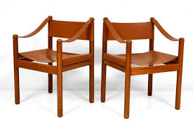 leather and wood dining chairs at 1stdibs