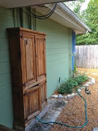 best 25 electric box ideas on pinterest electrical breaker box Fuse Box Wires Exposed Hosuing Violation covers the meter boxes and hose with extra space for garden tools! i would also recommend cutting a circle in the side for the hose instead of leaving the