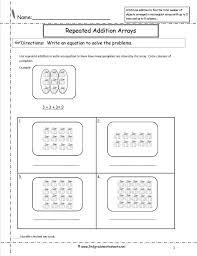 Array Worksheets 2nd Grade - Checks Worksheet