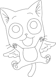 Happy Fairy Tail Lineart By Zeroooart