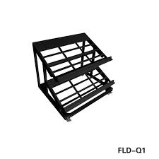 two tier metal countertop display rack