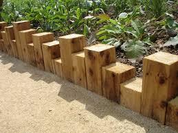 wood garden edging