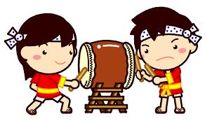 夏祭りと子供のイラスト7月季節素材のプチッチ