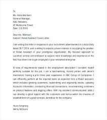 Cover Letter For Assistant Manager Position In Retail Cover Letter For Assistant Manager Retail Manager Cover Letter