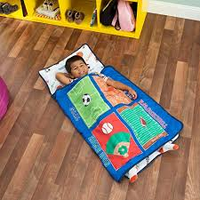 everyday kids toddler nap mat with removable pillow varsity sports carry handle with fastening