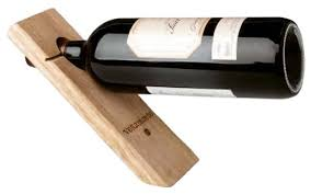 single wine rack. Perfect Single Product Description Gravity Defying Wine Bottle Stand  Wood Single  Holder To Rack E