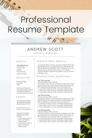 Modern Executive Resume Template Modern Professional Resume Template Perfect For The New