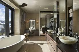 modern luxury master bathroom. Private Luxury Ski Resort In Montana By Len Cotsovolos Modern Master Bathroom Pinterest