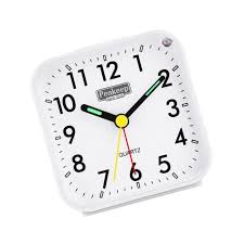 peakeep small battery operated og travel alarm clock silent no ticking l