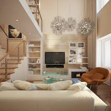 white in small living room