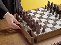 Hidden Drawer Lock Secret Chessboard Compartment Make