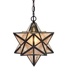 Glass Star Light Fumat 12 Inches Tiffany Style Stained Glass Handcrafted Pendant Light Water Wave Glass Star Design
