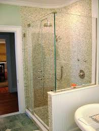 half wall shower glass half wall shower enclosures half wall and shower door shower glass wall