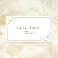 Place Card Holder Template Place Cards Gold Foil Diy Sim Smatch