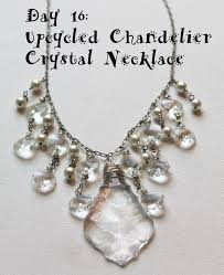 upcycled chandelier crystal necklace tutorial