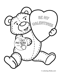 Small Picture Valentines day coloring pages for kids printable free