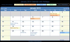 2010 Calendar January Print Friendly January 2010 Us Calendar For Printing