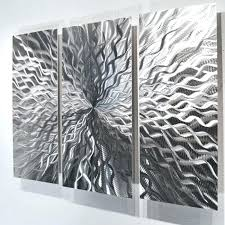 black and silver wall art modern abstract metal sculpture contemporary painting home decor