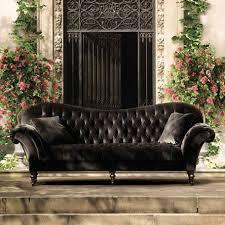 charcoal sofa velvet tufted velvet o69