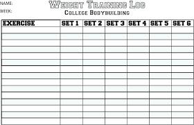 Weight Training Workout Log Glotro Co