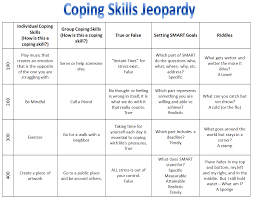 Recreation Therapy Ideas: Coping Skills Jeopardy