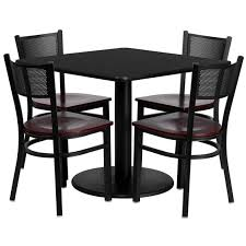 elegant square black mahogany dining table: furniture  furniture