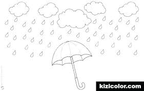 Water Drop Coloring Page Coloring Pages Umbrella Rain Mosmos Me