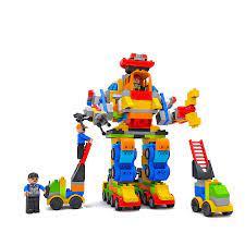 Đồ chơi xếp hình 356 bộ lắp ráp 4 siêu robot Vinatoy M1759-LR – Nhựa Chợ