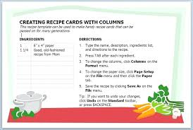Mustard Yellow And White Recipe Card Document Template Book Doc