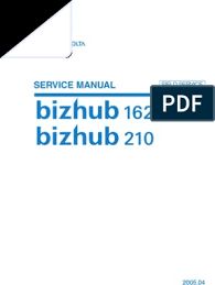 Find everything from driver to manuals of all of our bizhub or accurio products. Konica Minolta Bizhub 162 210 Service Manual Ac Power Plugs And Sockets Electrical Connector