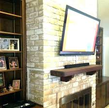 mounting tv on brick fireplace how to mount on brick fireplace stunning ideas mounting on brick