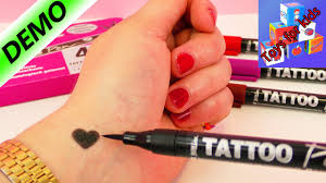 Testing Four Tattoo Pens Temporary Tattoo Demo