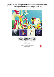 Design For Motion Motion Design Techniques And Fundamentals Read Pdf Design For Motion Fundamentals And Techniques Of