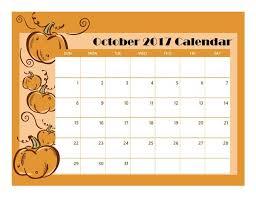 october 2017 printable calendar free printable calendar