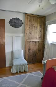 diy sliding closet door