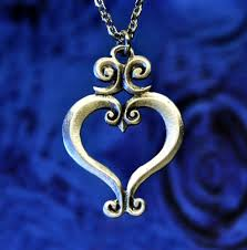 Scroll Heart Small Filigree Heart Pewter Necklace Renaissance Jewelry Medieval Jewelry Wedding Jewelry Handcrafted Jewelry By Treasure Cast Pewter