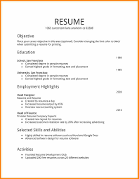 7 First Time Job Resume Samples West Of Roanoke