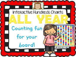 One Hundred Chart Interactive Interactive Hundreds Charts All Year Counting Fun For Your Board