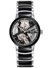 skeleton watches houseofwatches co uk rado mens centrix black ceramic skeletal bracelet watch r30178152