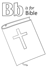 Bible Coloring Page Letter B Is For Bible Coloring Page Free