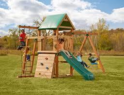 swing n slide trekker diy play set hardware kit custom ready to build swing set kit