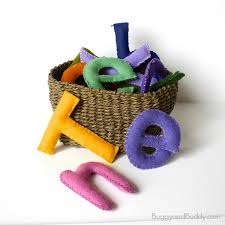 fun diy toy stuffed felt letters