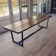 reclaimed wood furniture ideas. awesome reclaimed wood dining table with tapered steel frame by wwwtophomedec furniture ideas
