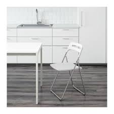 white chairs ikea nisse folding chair high. Delighful White NISSE Folding Chair You Sit Comfortably Thanks To The Chairu0027s Shaped Back   To White Chairs Ikea Nisse Chair High F